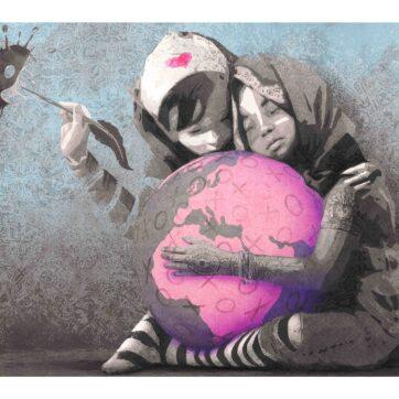 Hug The World, blue