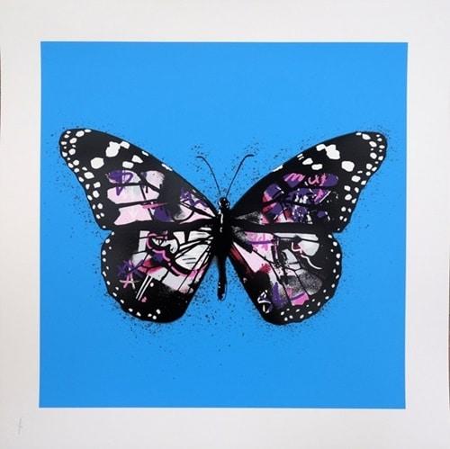 Butterfly Sky Blue/Pink P/P m/ramme
