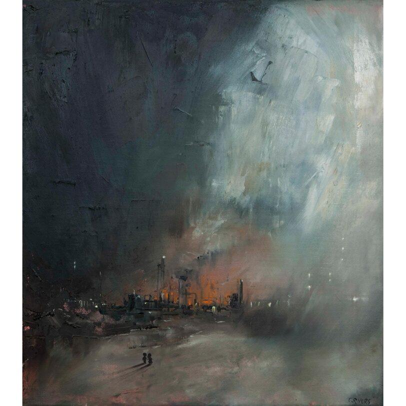 Fog Paintings I m/ramme