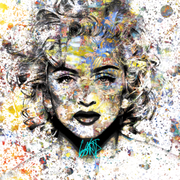 Comics Madonna med ramme